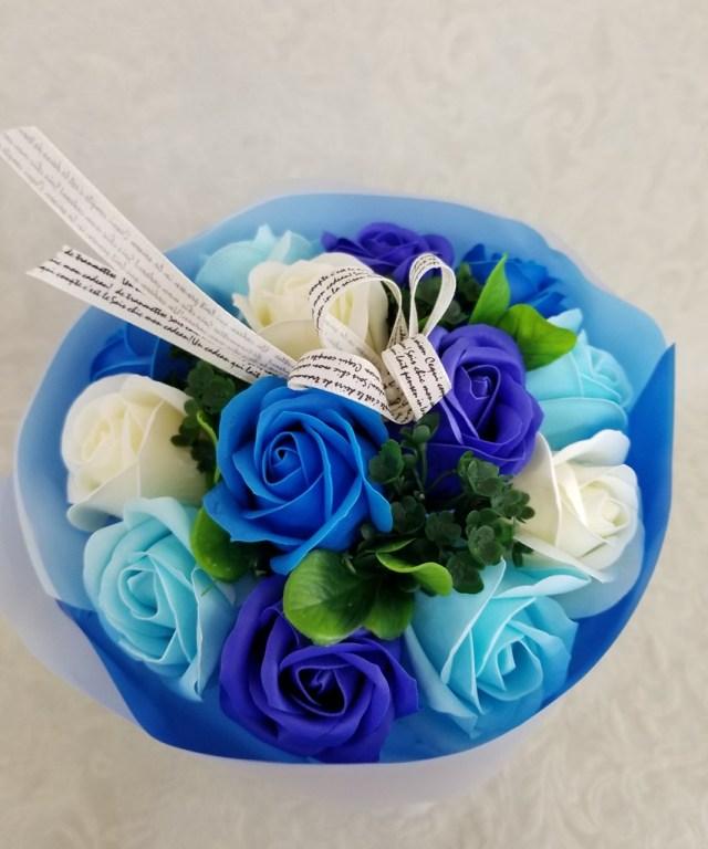 【シャボンフラワー】 ブルー  SH0002
