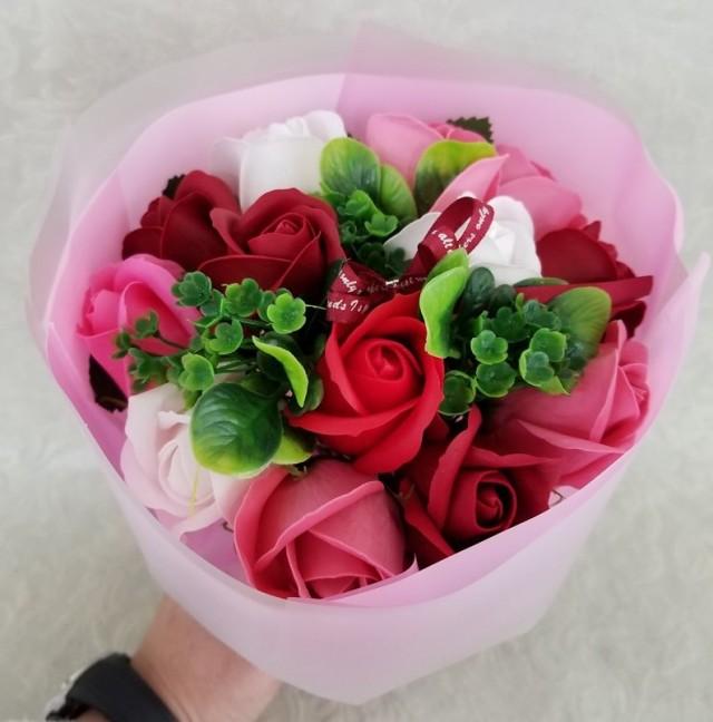 【シャボンフラワー】ピンク  SH0005