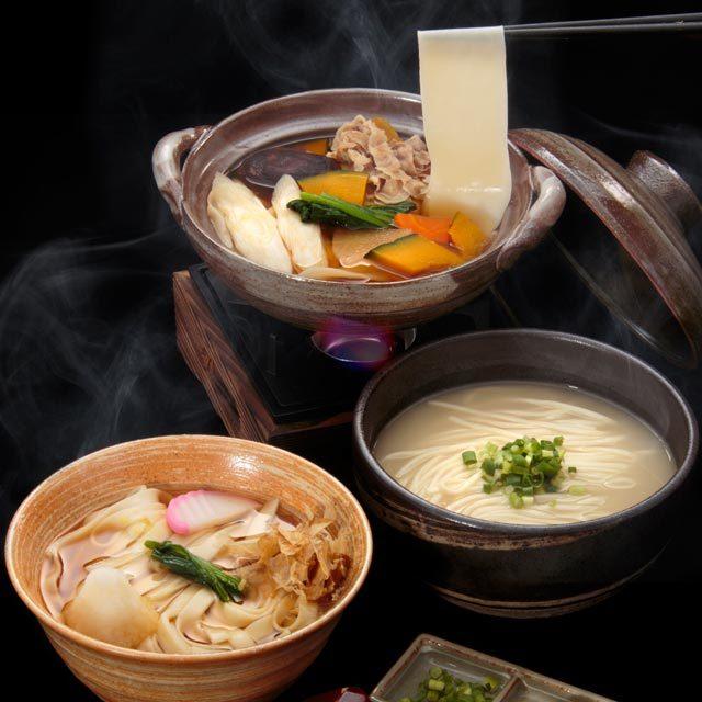 花山うどん三冬麺調理イメージ