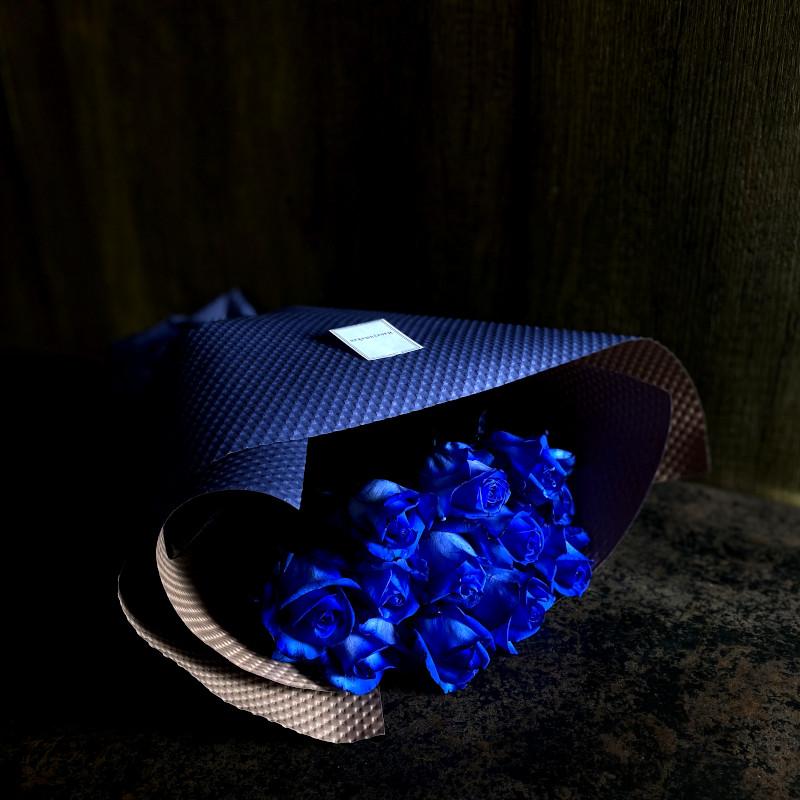 ローズブーケ12本 ダズンローズ(dozen rose)blue