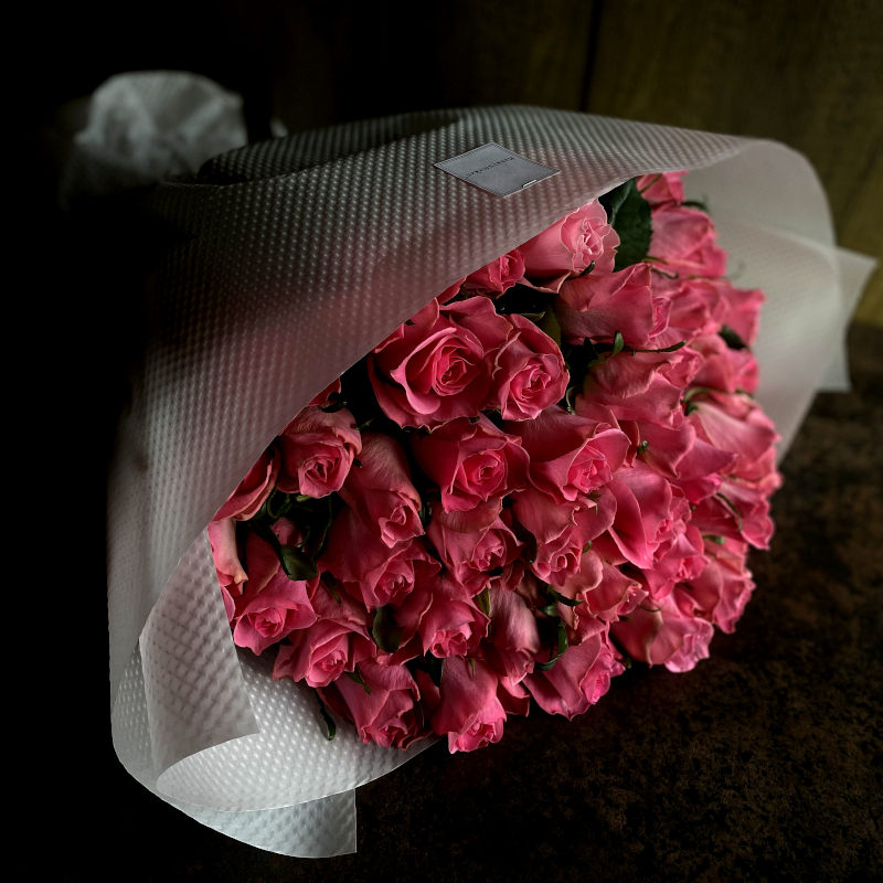 44本のバラの花束-不変の愛を誓う-pink
