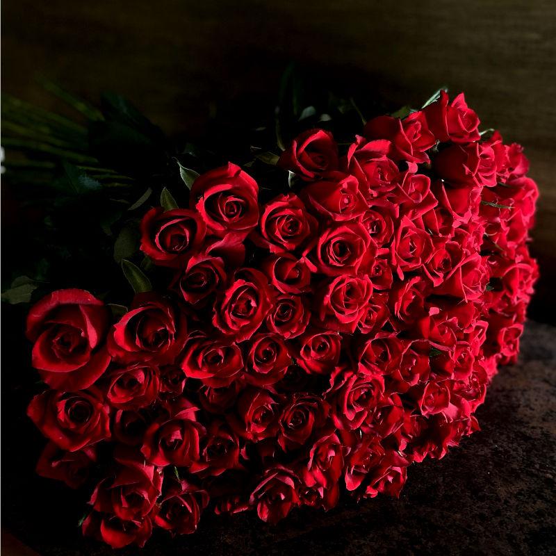 108本のバラの花束-結婚してください-