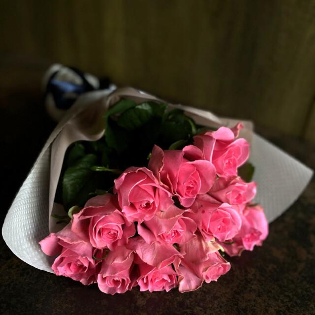 ローズブーケ12本 ダズンローズ(dozen rose)pink