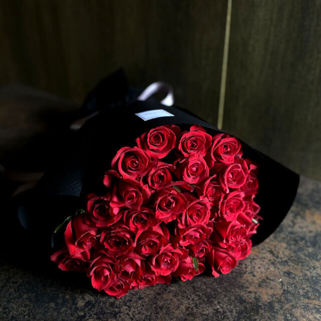 33本のバラの花束-生まれ変わっても愛する-red