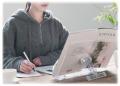 透明アクリル製で製作した本読台、読書台、書見台、