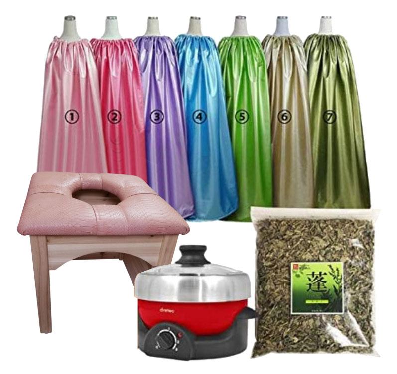 床保護の板付き、パステル薄ピンクのヨモギ蒸し椅子セット、よもぎ蒸しサロン、よモギ蒸し椅子セット