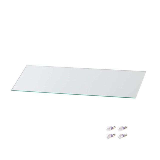 コレクションラック DIO ワイド用 追加ガラス棚板 単品 奥行18cm浅型用