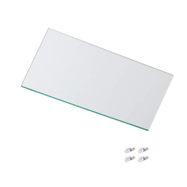 コレクションラック DIO ミドル用 追加ガラス棚板 単品 奥行38cm深型用