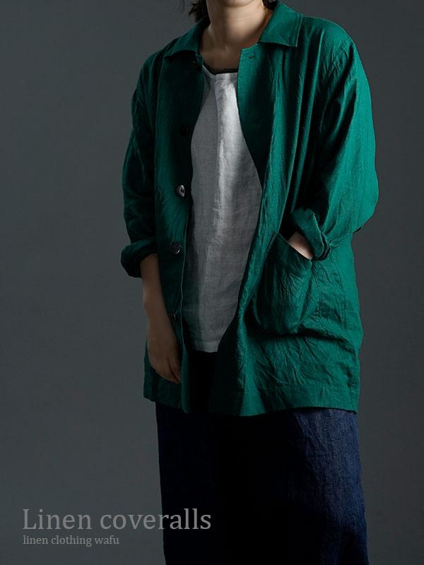 Linen Jacket 数量限定!カバーオール 男女兼用 / ヴェールシプレ h031c-vsp2