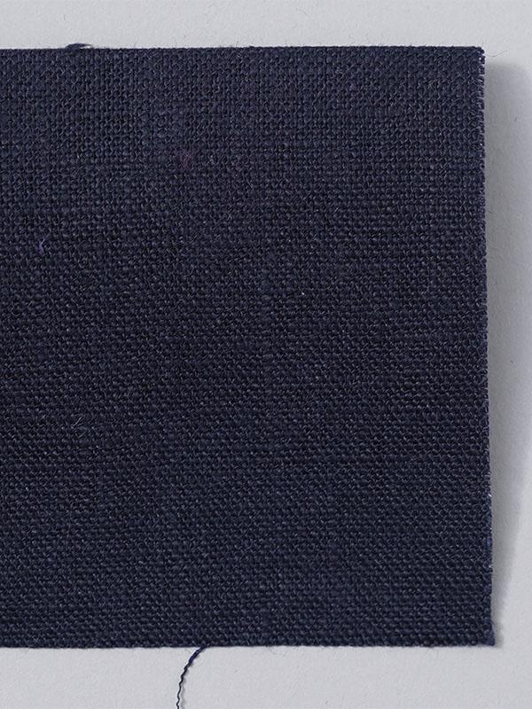 お試し生地 ベルギーリネン 中厚地 ネイビー 【ネコポス可】 k03919w018-s