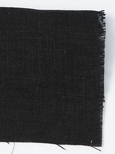 お試し生地 雅亜麻リネン 黒色 【ネコポス可】 f00555w010-s