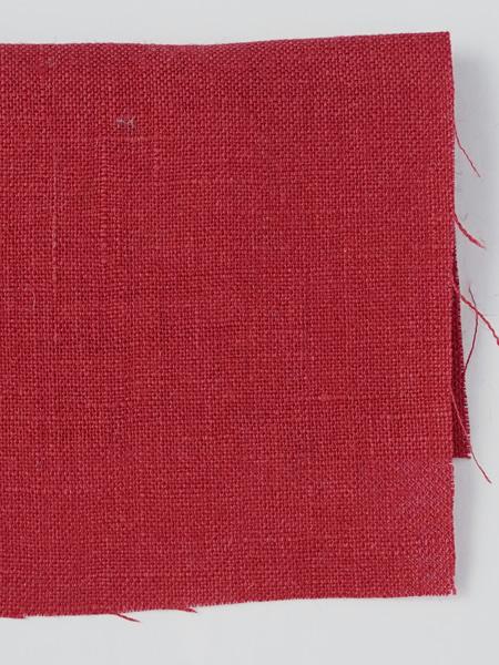 お試し生地 雅亜麻リネン 紅色 【ネコポス可】 f00555w022-s