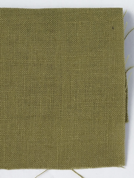お試し生地 雅亜麻リネン 黄橡色(きつるばみ) 【ゆうパケット可】 0555-4