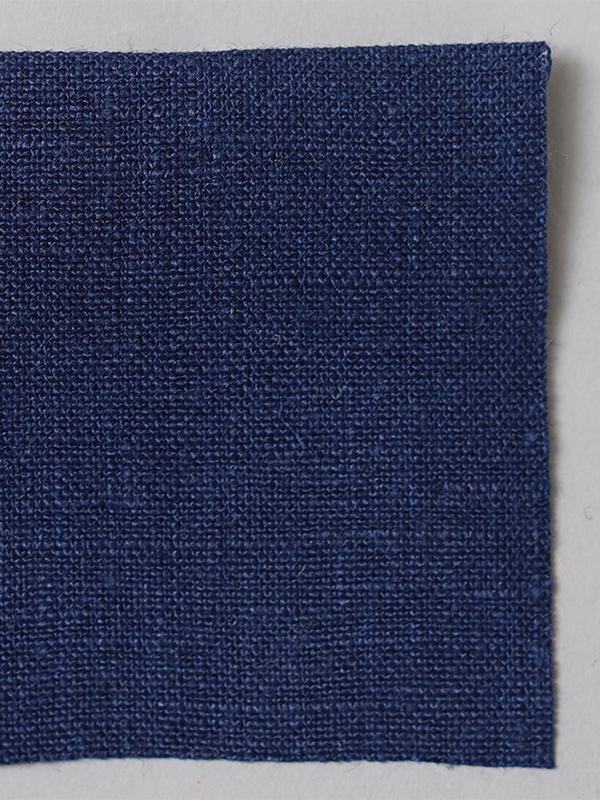 お試し生地 ベルギーリネン 先染め  紺桔梗(こんききょう)【ネコポス可】 f00200w00j-s
