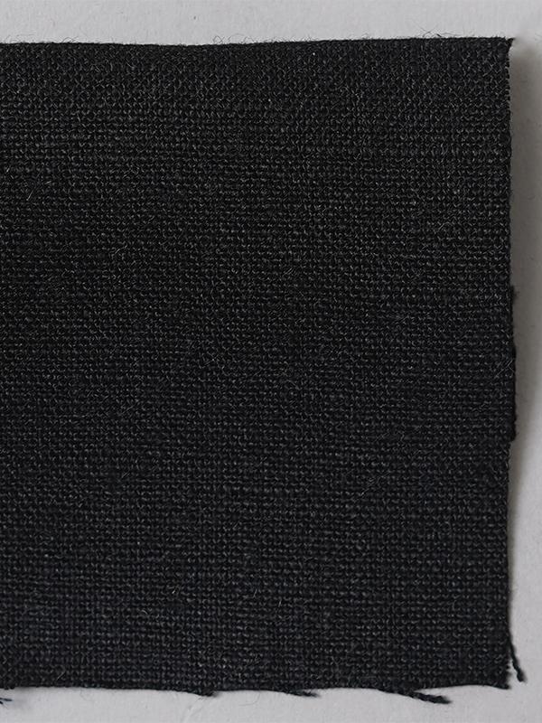 お試し生地 ベルギーリネン 先染め  黒【ネコポス可】 f00200w00k-s