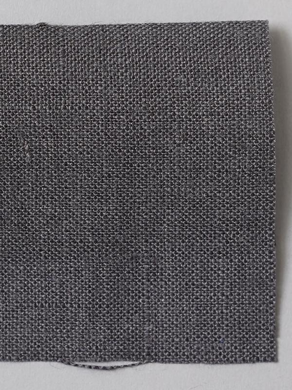 お試し生地 ベルギーリネン 先染め  黒橡(くろつるばみ)【ネコポス可】 f00200w010-s