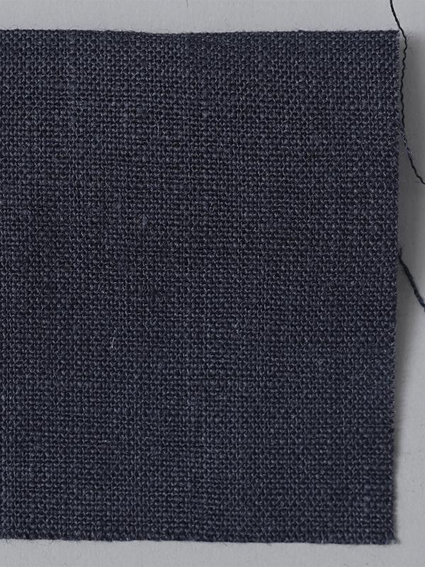 お試し生地 ベルギーリネン 先染め  鉄紺(てつこん)【ネコポス可】 f00200w012-s