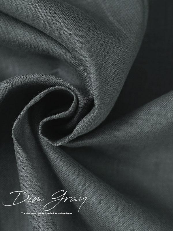 中厚地 リネン100% ワイド幅 linen 25番手  / ディムグレー【135cm幅】k03919w011