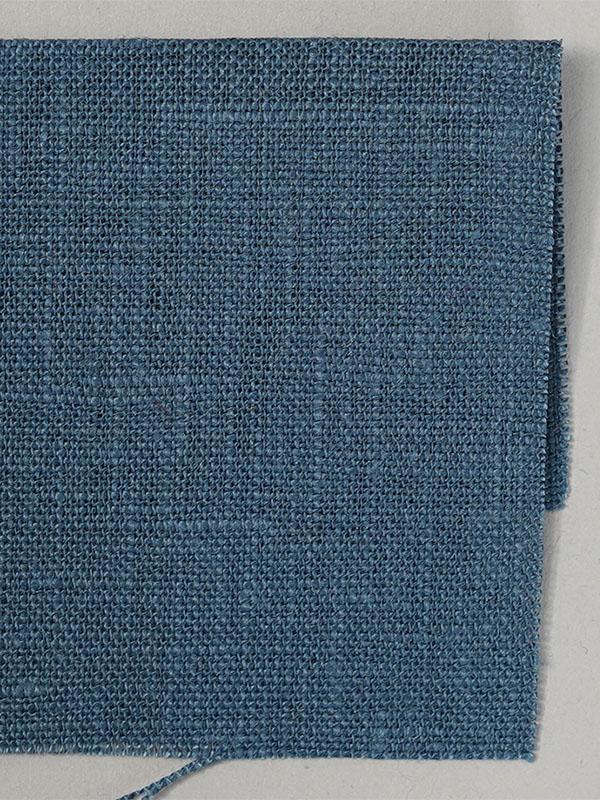 お試し生地 ベルギーリネン ブルーパッセ 【ネコポス可】 k03919w054-s