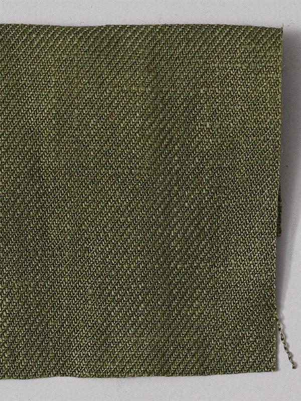 お試し生地【wafu premium linen】北フランス産の厳選された超上質なリネン オリーブ 【ネコポス可】 k1551w002-s