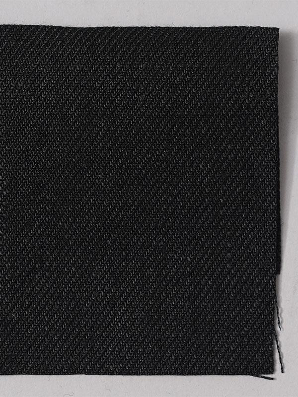 お試し生地【wafu premium linen】北フランス産の厳選された超上質なリネン ランプブラック 【ネコポス可】 k1551w020-s