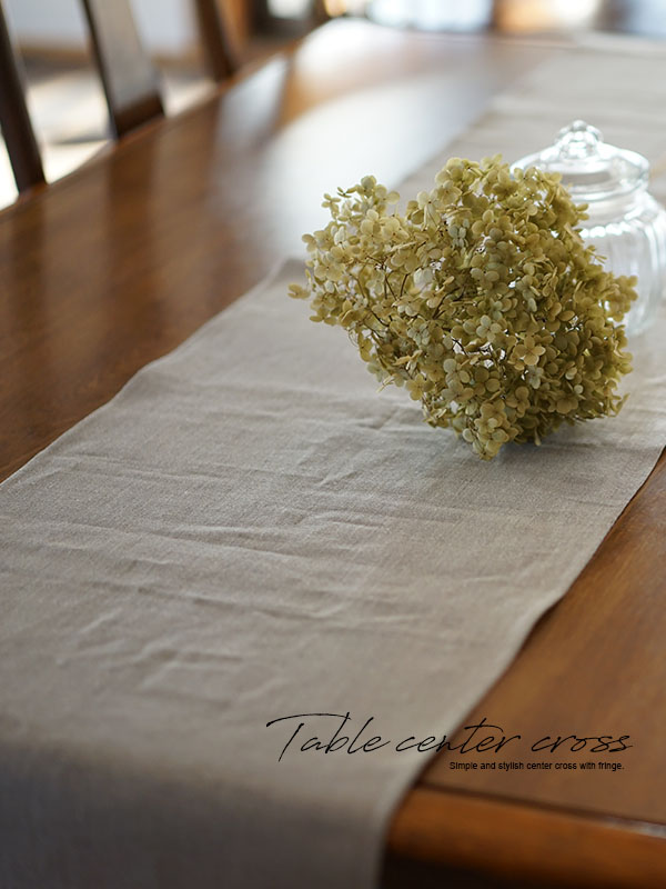 特殊な リネン テーブルクロス フリンジ テーブルランナー テーブルマット センターテーブルに / 亜麻ナチュラル