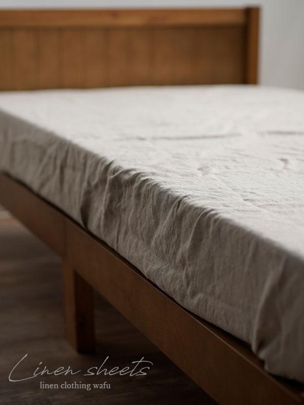 リネンボックスシーツ マイナスイオン加工 防菌 防臭 速乾 保湿 通年使える シーツ シングル 寿命 長持ち /2色展開 r017c