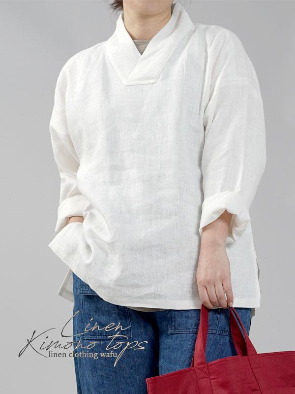 【wafu】中厚 リネン フード ポンチョ フード ブラウス /カーキ【free】h029a-khk2