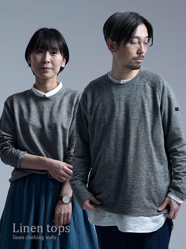 【wafu】ラグラン長袖Tシャツ / 杢グレー t020k-mgr2