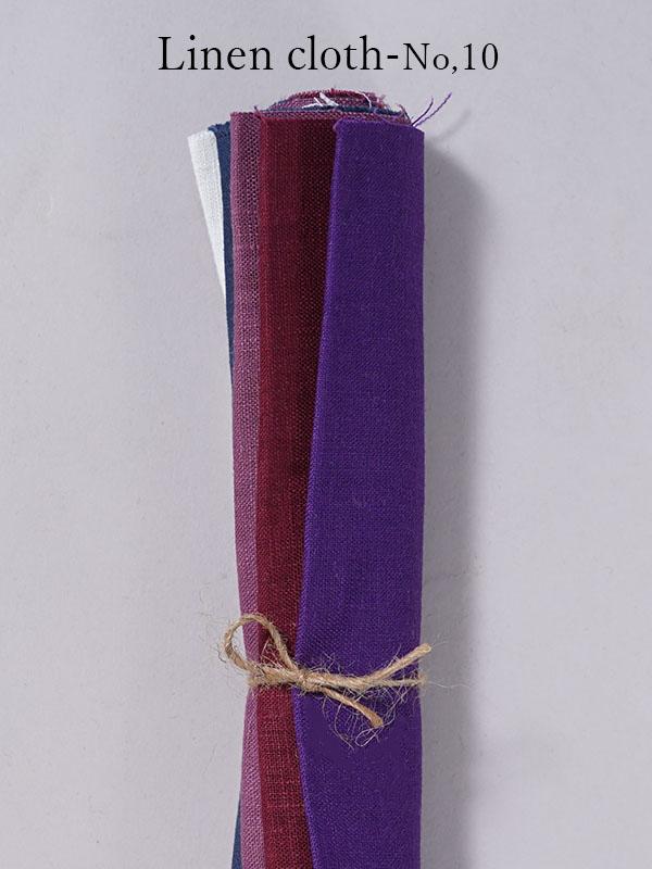 【wafu】はぎれ linen100% リネン 大きめ 5色 5枚セット  リネン100% 【ゆうパケット可】 /【 25~27×40~43cm 】z014a-no10