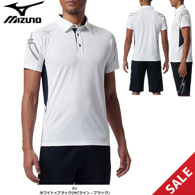 【SALE】【ミズノ】32MA9170 ポロシャツ(M、L)【★1着までクリックポストOK 送料220円】【★即納】
