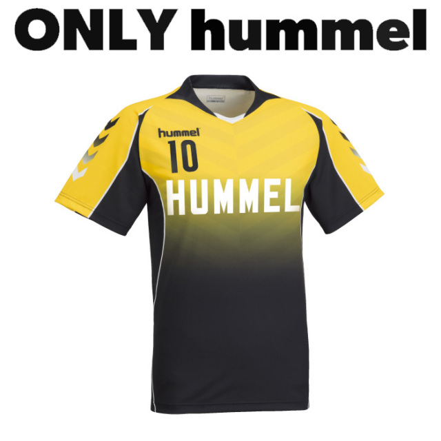 【ヒュンメル】【ONLY HUMMEL】HAG107 昇華ゲームシャツ【半袖/長袖】(ジュニア~ユニセックス:120~XO2)/納期:約30日/最低作成枚数:新規4枚~追加1枚~