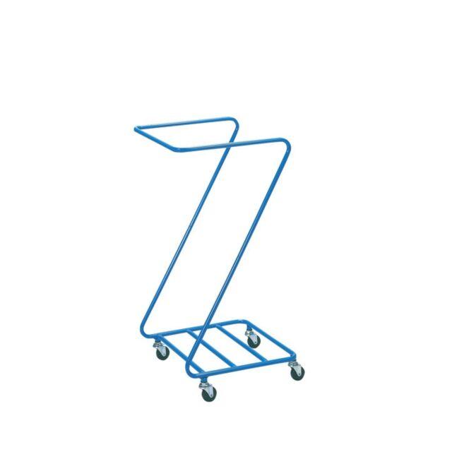 【1台】 業務用 リネンカート Z型ランドリー φ50キャスター付 1台  (カバー別売り) ランドリーカート リネンワゴン 回収カート ダストカート 汚れ物回収 ★Z型リネンカート/まとめ割対象