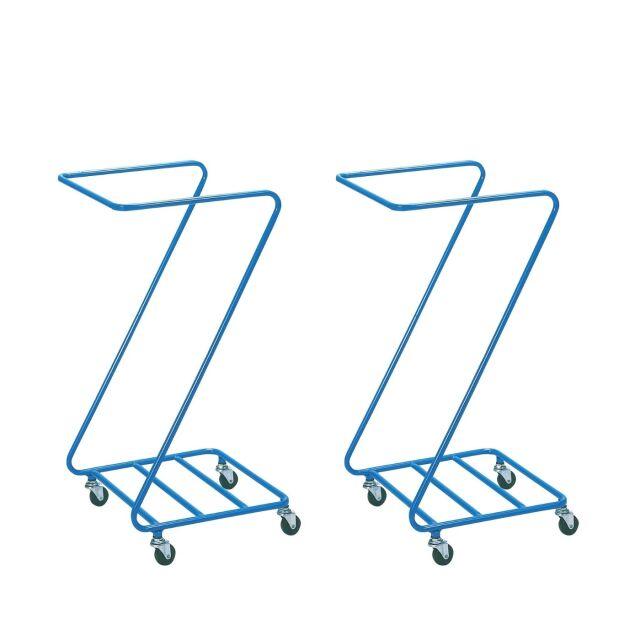 【2台セット】 業務用 リネンカート Z型ランドリー φ50キャスター付 2台  (カバー別売り)  ランドリーカート リネンワゴン 回収カート ダストカート 汚れ物回収 ★Z型リネンカート/まとめ割対象