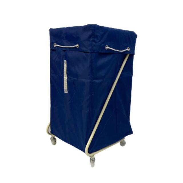 Z型リネンカート アイボリー ポリエステル製 ブルー袋付 【送料無料】セット価格