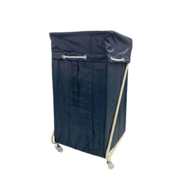 Z型リネンカート アイボリー ポリエステル製 ダークネイビー袋付 【送料無料】セット価格