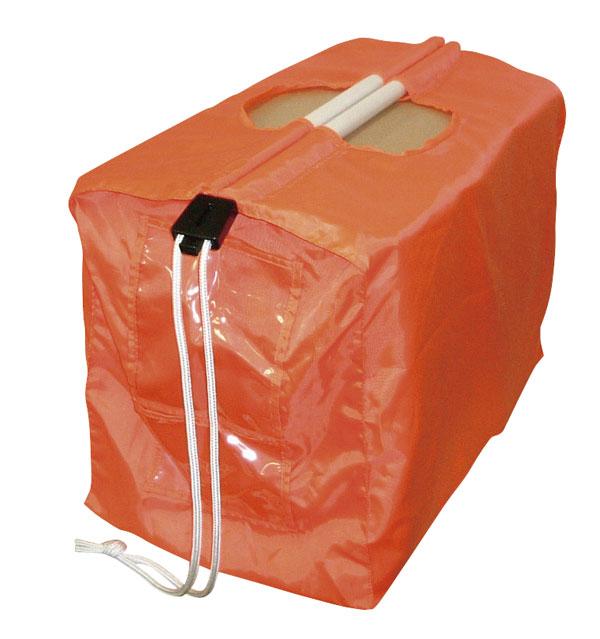 業務用 入荷袋 オレンジ 1枚 外交用バックにも納期管理ワゴンにも最適なパイプ付バック 【送料別途】