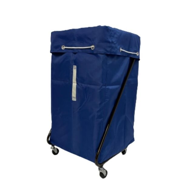 Z型 リネンカート ブラウン ポリエステル製  ブルー袋付 【送料無料】セット価格