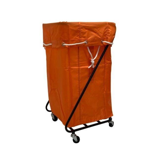 Z型 リネンカート ブラウン ポリエステル製  オレンジ袋付 【送料無料】セット価格