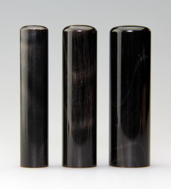 男性3本セットL 天然黒水牛 12・15・18 送料・代引手数料無料