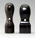 2本セット 天然黒水牛 18天丸・21角印 送料・代引手数料無料