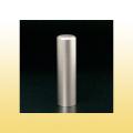 実印 チタン印鑑 ブラストチタン 16.5mm モミ皮ケース付