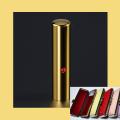 銀行印・実印・認印 チタン印鑑 ミラーゴールド ジュエリー入り 13.5mmケース付