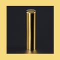 銀行印・実印 チタン印鑑 ミラーゴールド 15mm