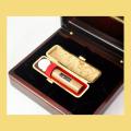 実印・銀行印 屋久杉印鑑 18mm 化粧箱・ケース付セット