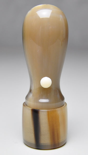 オランダ水牛 濃色(中卸) 会社実印 天丸さや18.0mm×60mm