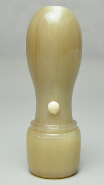 オランダ水牛 純白(白卸) 会社実印 天丸さや18.0mm×60mm
