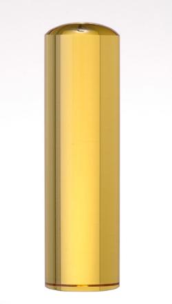 宝石印(貴石印) シトリン(黄水晶) 銀行印 12.0mm×60mm