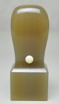 オランダ水牛 純白(白卸) 会社角印 24.0mm×60mm