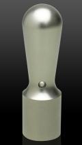 チタン(ブラスト)皮袋付き 会社実印 天丸さや18.0mm×60mm